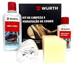 KIT LIMPEZA E HIDRATACAO DE COURO WURTH