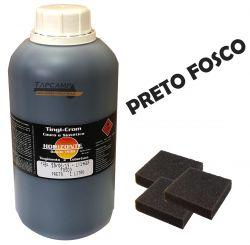 TINGICROM COURO E SINTETICO PRETO FOSCO 1 L