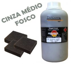 TINGICROM COURO E SINTETICO CINZA MEDIO 1 L