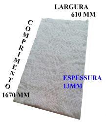 MANTA FIBRA CERAMICA 1670X610X13MM  ALTA TEMPERATURA 1260C