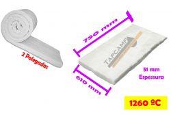 MANTA FIBRA CERAMICA  750 X 610 X 51mm 64KG/M3